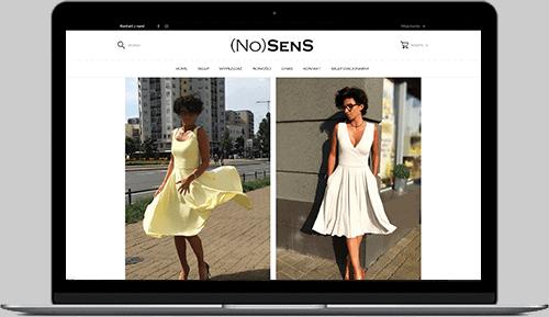 Profesjonalne sklepy internetowe - przykład realizacji RTM Studio: nosens.pl